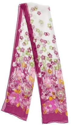 Burberry Sheer Floral Scarf Sheer Floral Scarf