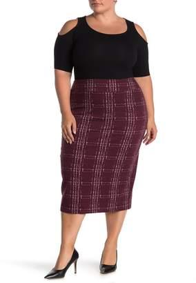 14th & Union Ponte Midi Skirt (Plus)
