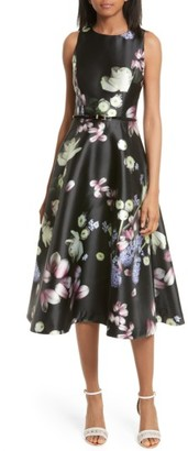 Women's Ted Baker London Rosa Kinsington Floral Belted A-Line Dress $439 thestylecure.com