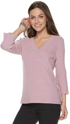 Apt. 9 Women's Faux-Wrap V-Neck Sweater