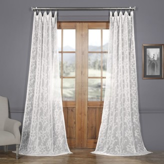 Eff EFF Paris Scroll Patterned Sheer Curtain