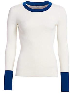 Akris Punto Women's Bicolor Stretch-Wool Crewneck Pullover