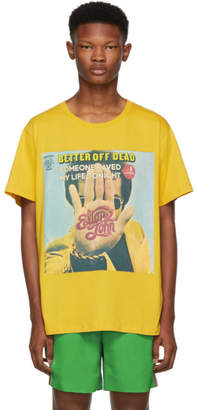 Gucci Yellow Elton John Print T-Shirt