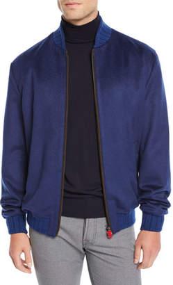 Kiton Men's Cashmere Bomber Jacket