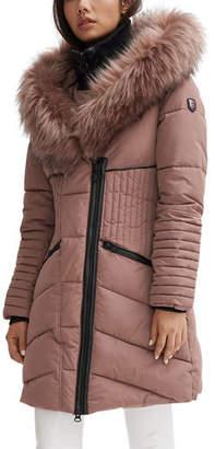 Noize Oversized Faux Fur Hooded Parka Coat