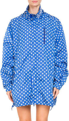 Givenchy Star-Printed Hooded Lightweight Wind-Resistant Jacket