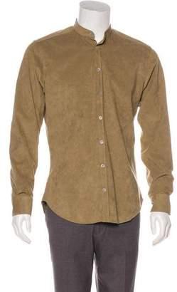 Etro Tab Collar Button-Up Shirt