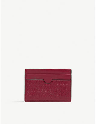 Loewe Embossed anagram leather card holder