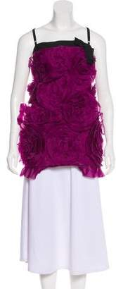 Dolce & Gabbana Silk Ruffled Top
