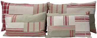 One Kings Lane Vintage Antique French Patchwork Pillows - Set of 4 - Rose Victoria