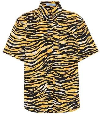 Prada Tiger-printed cotton shirt