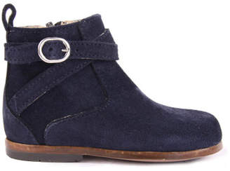 Little Mary Sale - Amille Suede Boots with Zip Navy blue