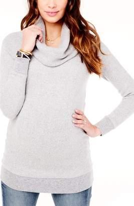 Ingrid & Isabel R) Cowl Neck Maternity Sweater