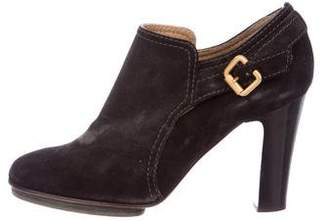 Chloé Suede Round-Toe Booties