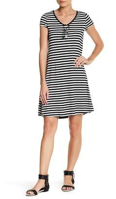 Cable & Gauge Short Sleeve Stripe Dress (Petite) $68 thestylecure.com