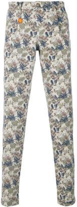 Manuel Ritz leaf print trousers