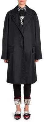 Prada Nylon Button-Front Coat