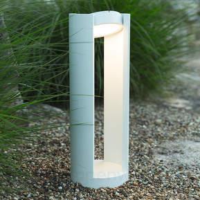 Weiße LED-Wegelampe Lilli - Kopf schwenkbar
