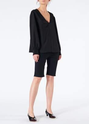 Tibi Black Denim Trish Shorts