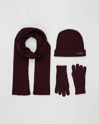 Scarf Set with Beanie and Gloves