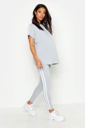 boohoo Maternity Side Stripe Lounge Set