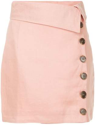 Suboo buttoned mini skirt