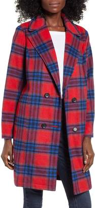 BP Plaid Double Breasted Coat