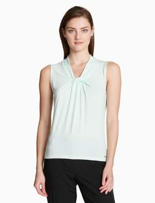 Calvin Klein solid knot neck sleeveless top