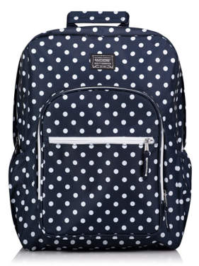 George Eastsport Navy Polka Dot Large Practical Rucksack