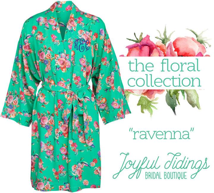 Etsy Personalized Bridesmaid Robes, Ravenna Floral Robes, Bridesmaid Gift, Bridal Party Robes, Set of Bri