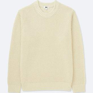 Uniqlo Men's Waffle Knit Crewneck Long-sleeve Sweater