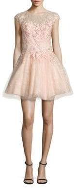 Floral Lace Fit-&-Flare Dress