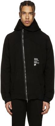 Julius Black Asymmetric 'Dust' Zip-Up Hoodie $785 thestylecure.com