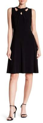 Nine West Cutout Jersey Fit & Flare Dress