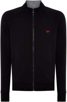 Emporio Armani Men's Zip up logo jumper