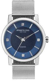 Kenneth Cole Diamond Stainless Steel Mesh Strap Watch