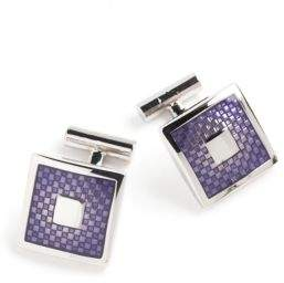 Black & Brown Black Brown Purple Cufflinks