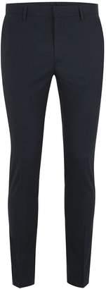 Topman Navy Ultra Skinny Smart Trousers