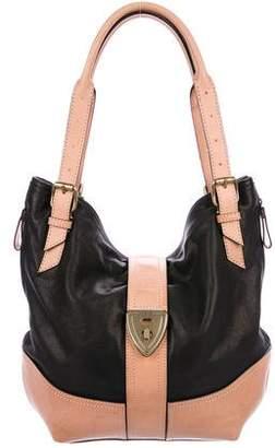 Brooks Brothers Leather Bicolor Shoulder Bag