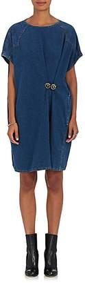 MM6 MAISON MARGIELA Women's Cottom Denim Oversized Shift Dress