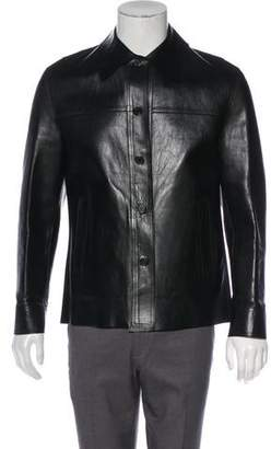 4a66f30d4b9 Mens Leather Gucci Jacket - ShopStyle