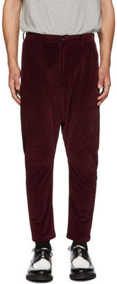 D by D Burgundy Dropped Inseam Trousers