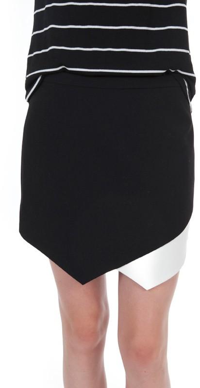 Mason by Michelle Mason Contrast Hem Skirt