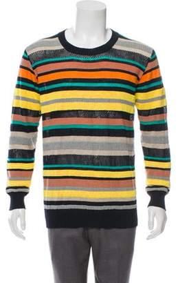 Junya Watanabe Comme des Garçons MAN Linen Crew Neck Sweater navy Comme des Garçons MAN Linen Crew Neck Sweater