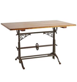 Rejuvenation Drafting Table w/ Cast Iron Legs & Ornamental Brackets