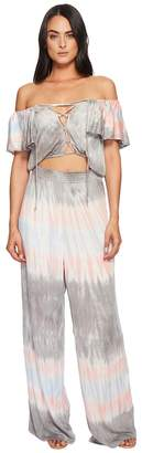 Green Dragon Miami Tie-Dye Greta Lace Front Jumpsuit Women's Jumpsuit & Rompers One Piece