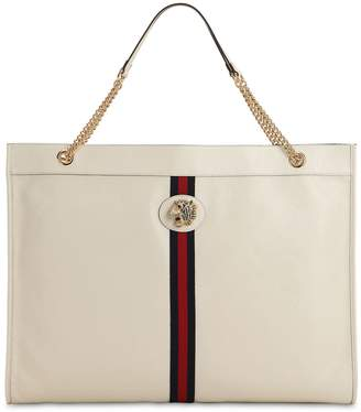 92a0b9889b2f4 Gucci White Leather Tote Bags - ShopStyle