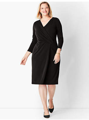 Talbots Crepe Faux-Wrap Sheath Dress