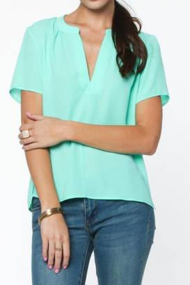 Everly Sage Blouse $39 thestylecure.com