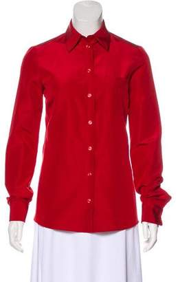 Michael Kors Long Sleeve Button-Up Top